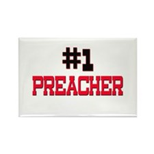 Number 1 PREACHER Rectangle Magnet