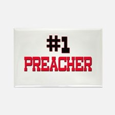 Number 1 PREACHER Rectangle Magnet