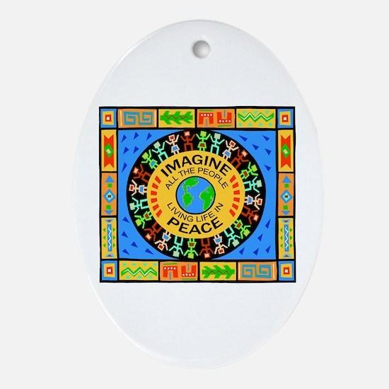 World Peace Oval Ornament