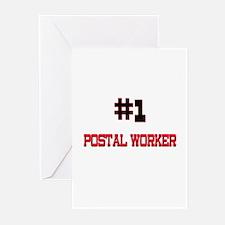 Number 1 POSTAL WORKER Greeting Cards (Pk of 10)