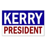 Kerry: President! Patriotic Bumper Sticker