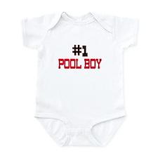 Number 1 POOL BOY Infant Bodysuit