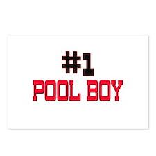 Number 1 POOL BOY Postcards (Package of 8)