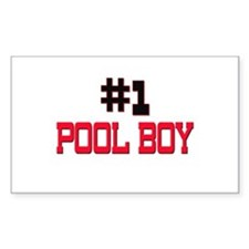 Number 1 POOL BOY Rectangle Decal