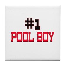 Number 1 POOL BOY Tile Coaster
