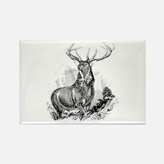 Elk Rectangle Magnet