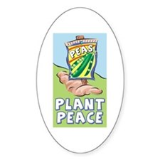 Plant Peace Oval Decal