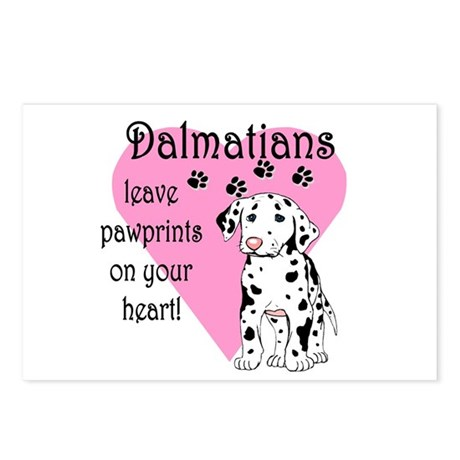 Dalmatian Pawprints Postcards (Package of 8)
