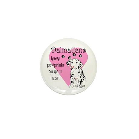 Dalmatian Pawprints Mini Button