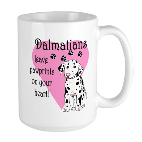 Dalmatian Pawprints Large Mug