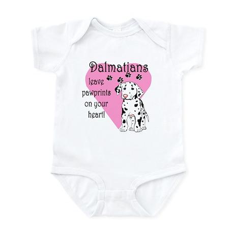 Dalmatian Pawprints Infant Creeper