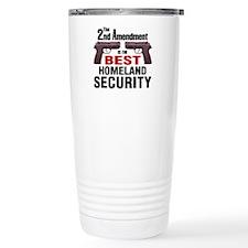 Guns & Homeland Security Travel Mug
