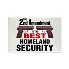 Guns & Homeland Security Rectangle Magnet