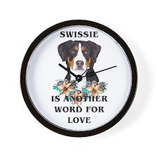 Swiss Mountain Dog Wall Clock