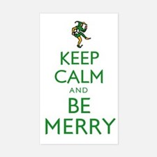 Keep Calm and Be Merry Rectangle Decal