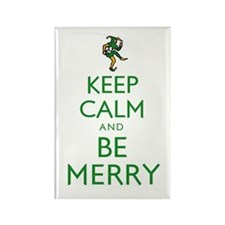 Keep Calm and Be Merry Rectangle Magnet