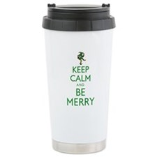 Keep Calm and Be Merry Travel Mug