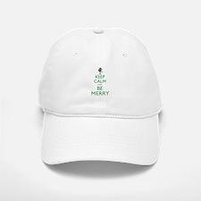 Keep Calm and Be Merry Baseball Baseball Cap