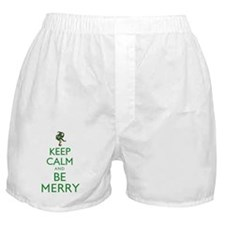 Keep Calm and Be Merry Boxer Shorts