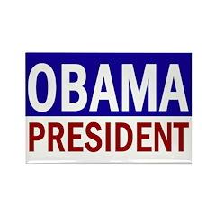 Barack Obama for President (10 rect. magnets)