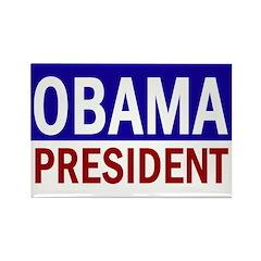 Obama: President! (Rectangle Magnet)