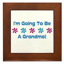 To Be A Grandma Framed Tile