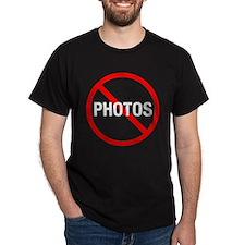 No Photos Black T-Shirt