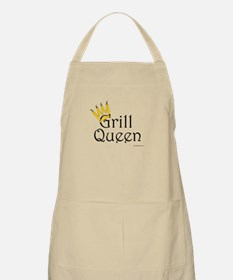 Grill Queen (yellow pepper crown) BBQ Apron