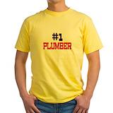 Apprentice plumbers Mens Yellow T-shirts