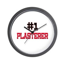 Number 1 PLASTERER Wall Clock