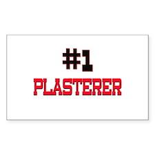 Number 1 PLASTERER Rectangle Decal