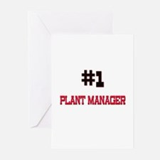 Number 1 PLANT MANAGER Greeting Cards (Pk of 10)