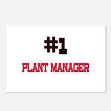 Number 1 PLANT MANAGER Postcards (Package of 8)