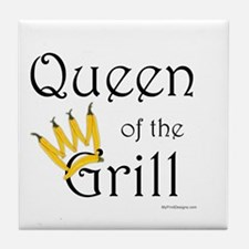 Queen of the Grill (pepper crown) Tile Coaster