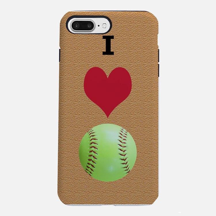 I Love Softball Itouch2 I iPhone 7 Plus Tough Case