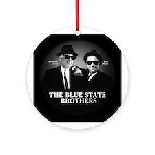 Blue State Bros Ornament (Round)
