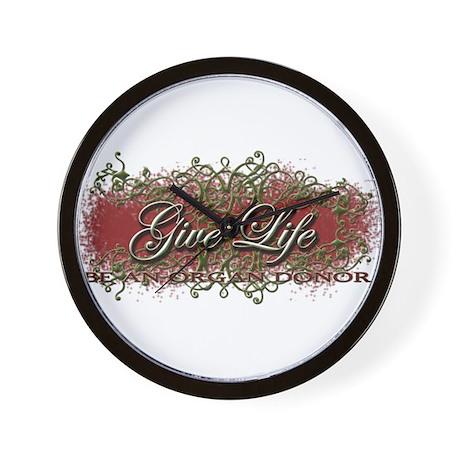 Give Life Vine Design Wall Clock