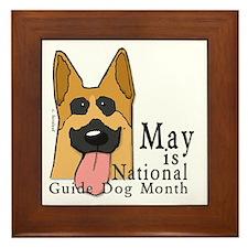 National Guide Dog Month Framed Tile