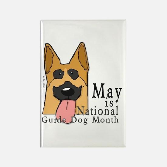 National Guide Dog Month Rectangle Magnet