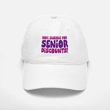 ELIGIBLE FOR SENIOR DISCOUNTS! Baseball Baseball Cap