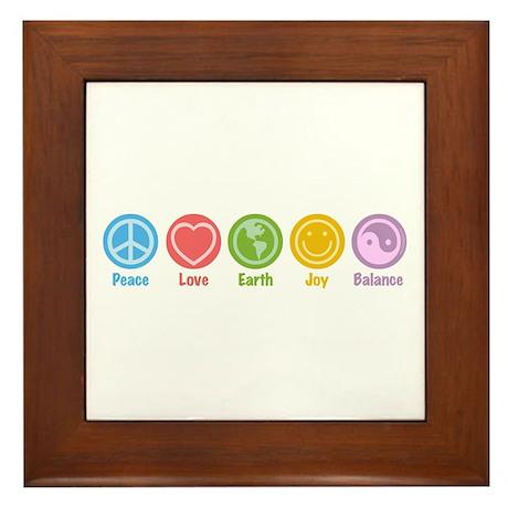 Universal Symbols Framed Tile