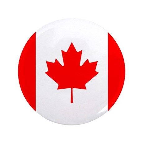 "Flag of Canada 3.5"" Button"