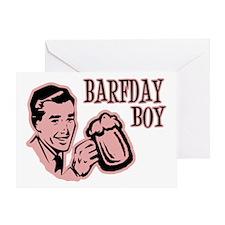 Red Barfday Boy Greeting Card