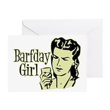 Yellow Barfday Girl Greeting Card