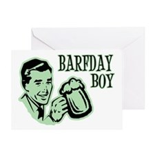 Green Barfday Boy Greeting Card