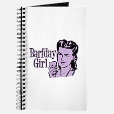 Purple Barfday Girl Journal