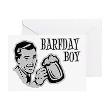 Grey Barfday Boy Greeting Card