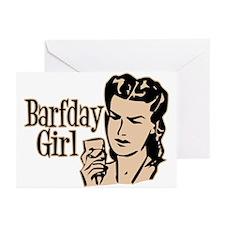 Orange Barfday Girl Greeting Cards (Pk of 10)