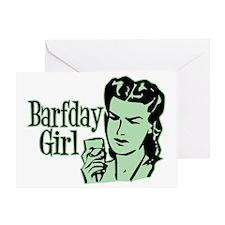 Green Barfday Girl Greeting Card