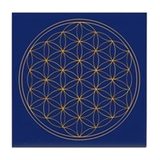 Flower of Life Tile Coaster